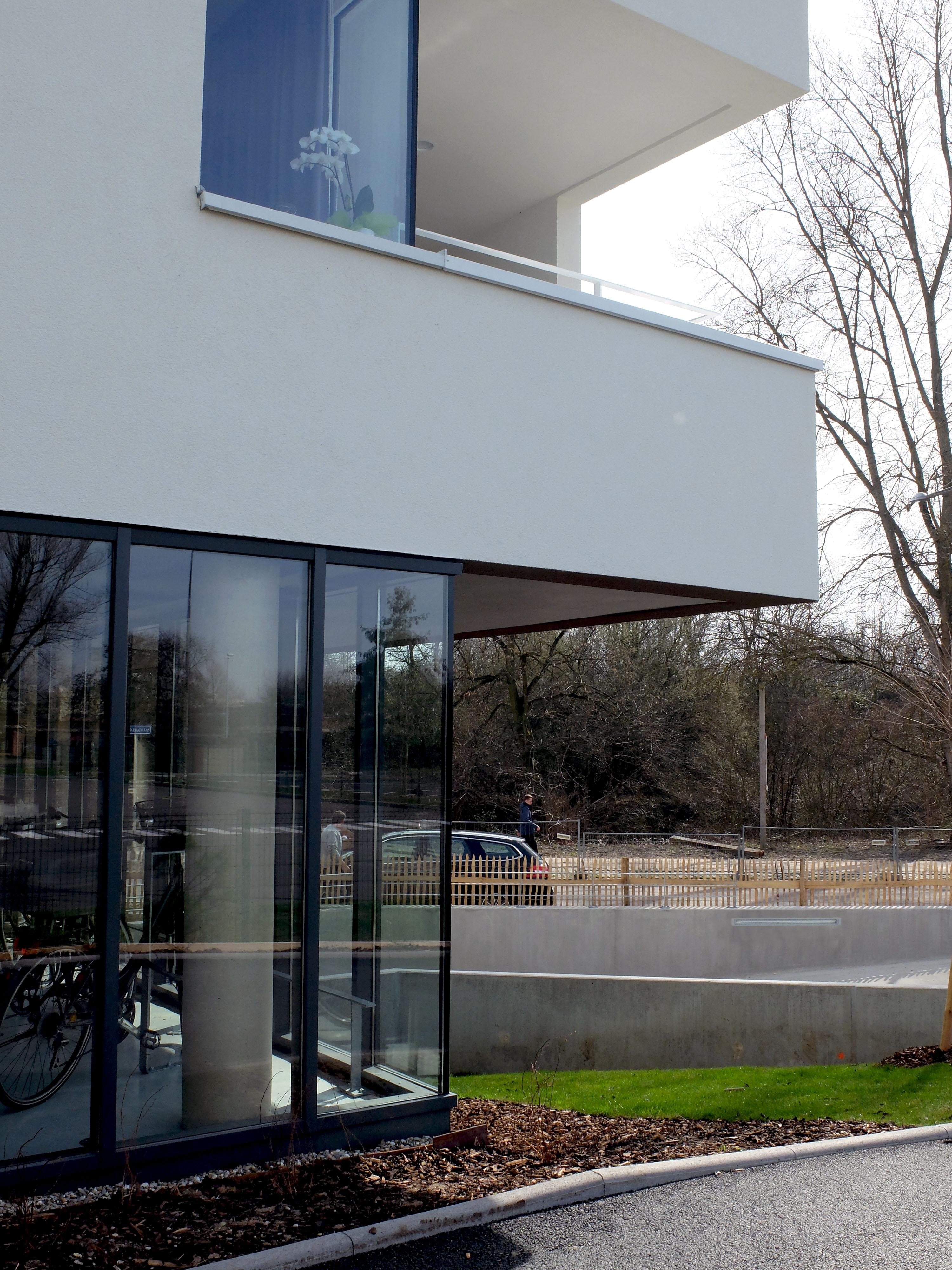 32 Logements BBC à Lingolsheim pied de façade et intégration paysagère
