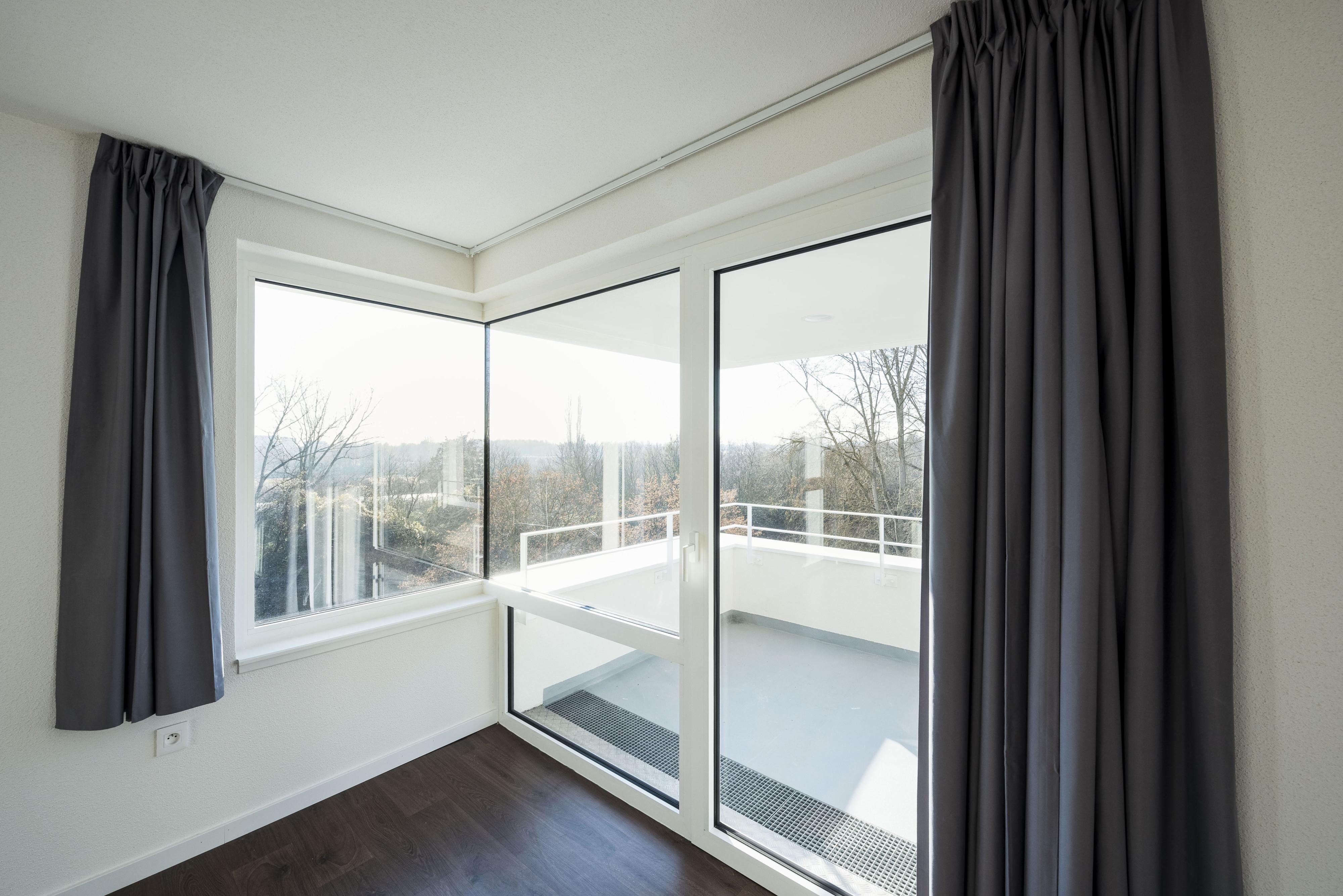 32 Logements BBC à Lingolsheim balcon de plain-pied vu de l'intérieur